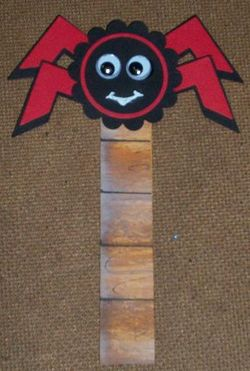 Red-Backed Spider Bookmark