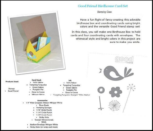 Advertisement for Good Friend Bird Box & Cards Set!