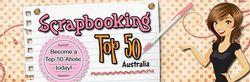 Scrapbooking Top 50 Australia banner