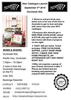 NEW CATALOGUE LAUNCH FLYER